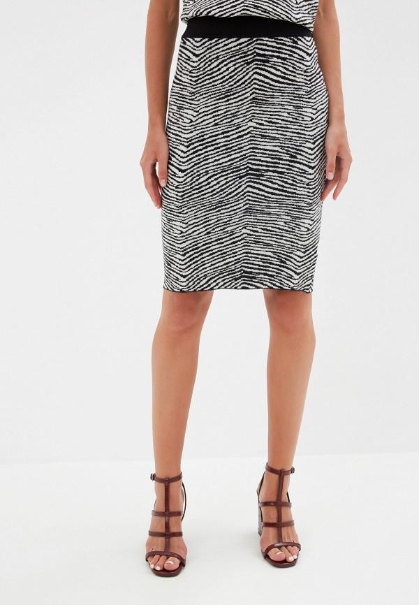 женская зауженные юбка silvian heach, черная