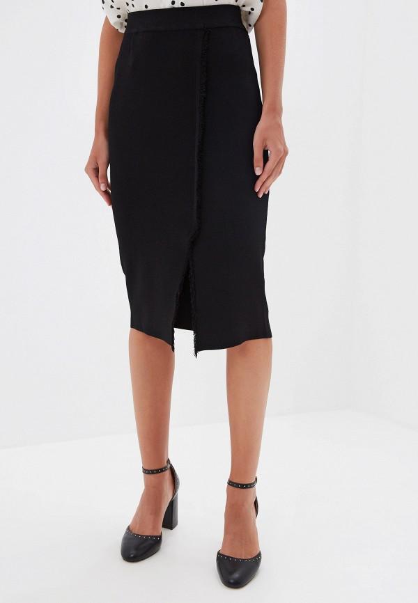 женская прямые юбка silvian heach, черная