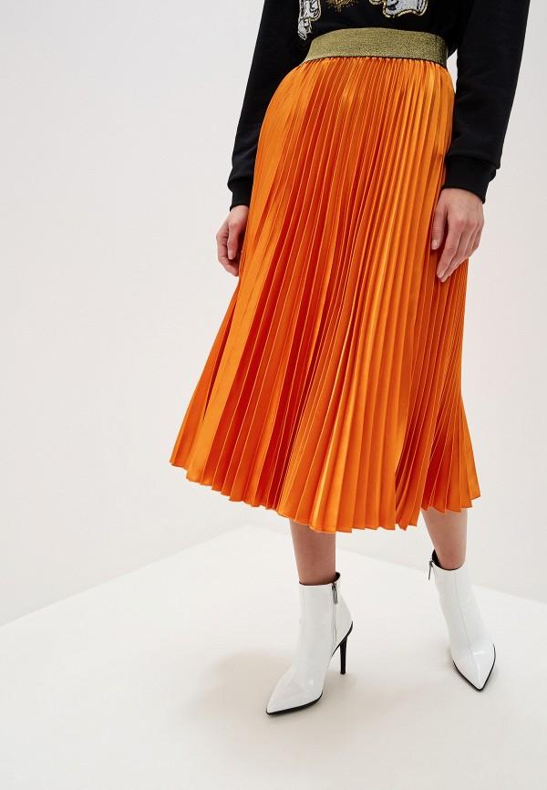 женская юбка silvian heach, оранжевая