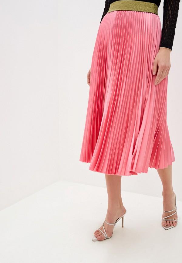 женская юбка silvian heach, розовая