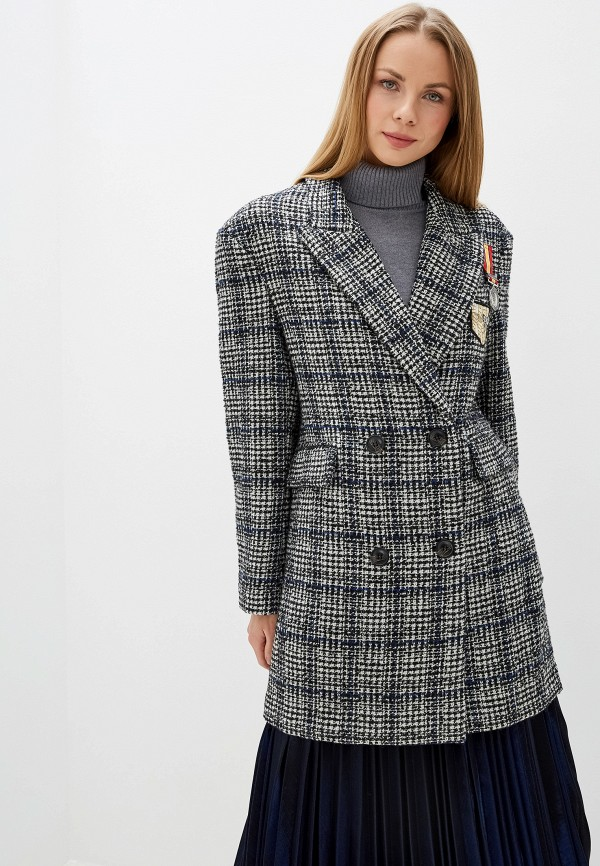 женское пальто silvian heach, серое
