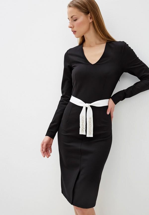 женское вечерние платье silvian heach, черное