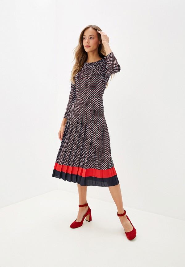 женское повседневные платье silvian heach, синее