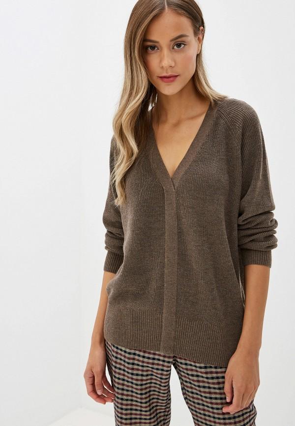 женский пуловер silvian heach, коричневый