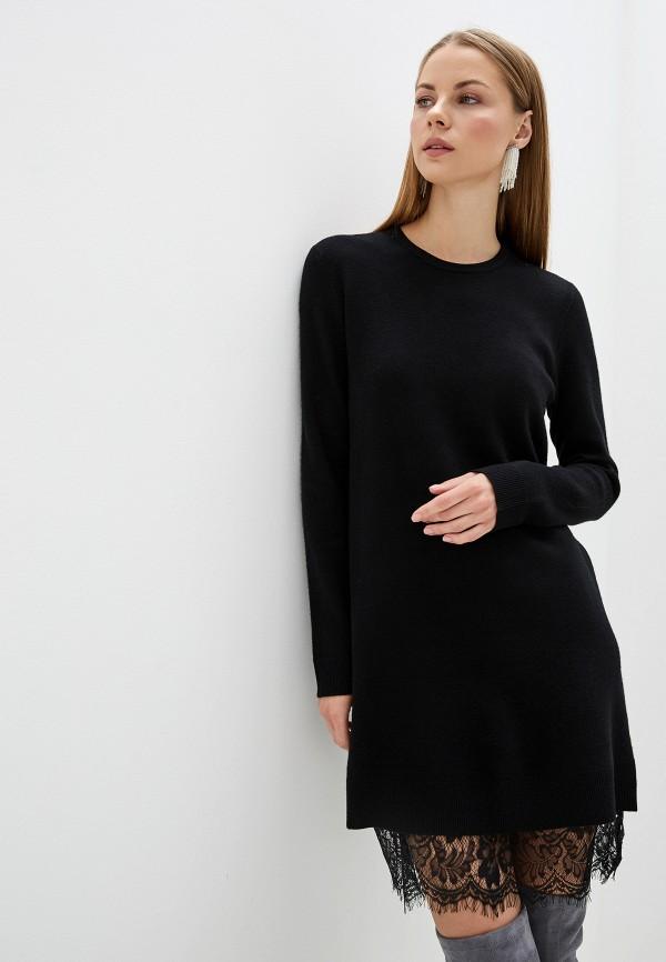 женское повседневные платье silvian heach, черное