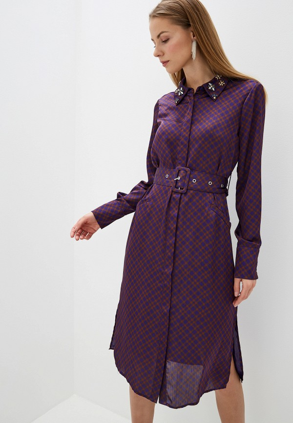 женское платье silvian heach, фиолетовое