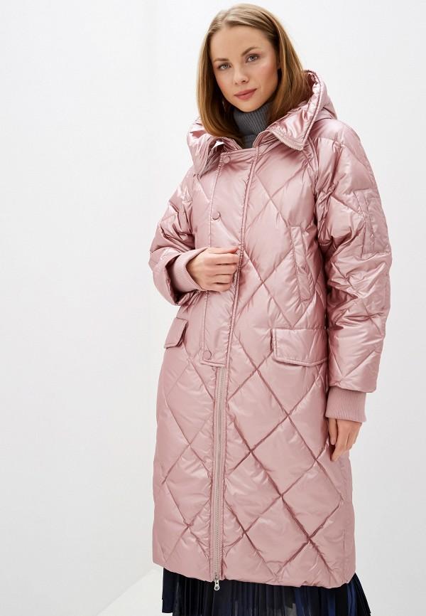 женский пуховик silvian heach, розовый