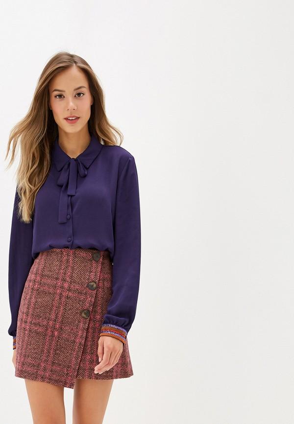 женская блузка silvian heach, фиолетовая