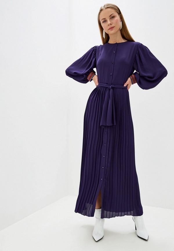 женское повседневные платье silvian heach, фиолетовое