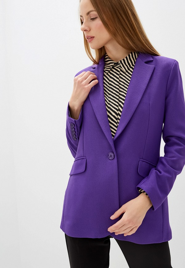 женский пиджак silvian heach, фиолетовый