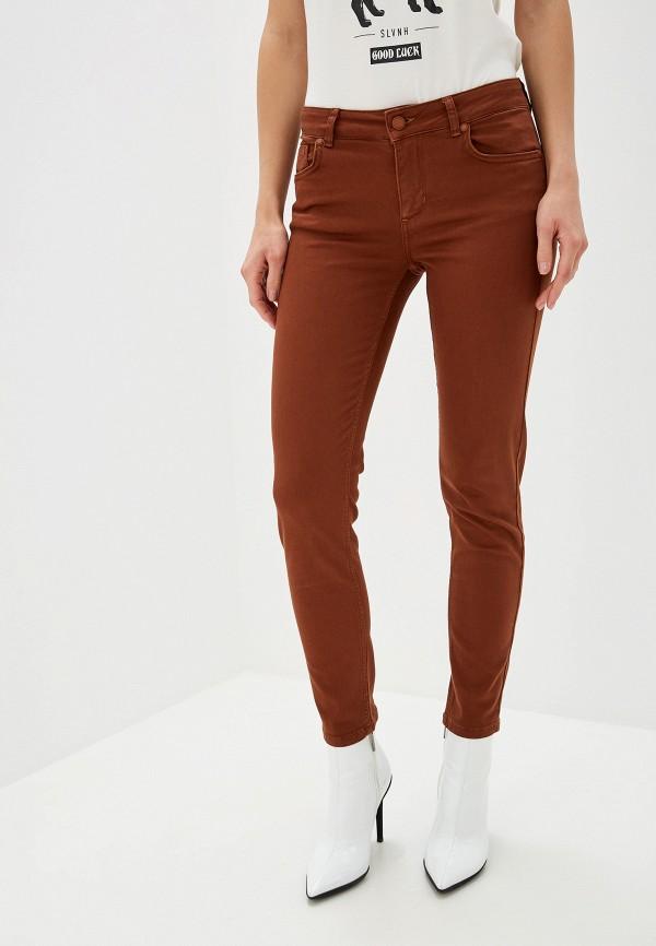 женские повседневные брюки silvian heach, коричневые