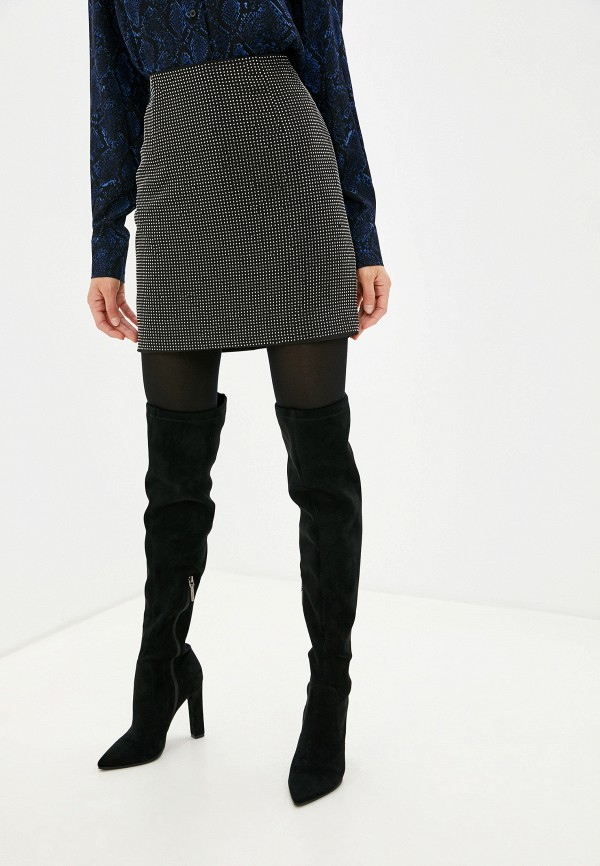 Фото - женскую юбку Silvian Heach черного цвета
