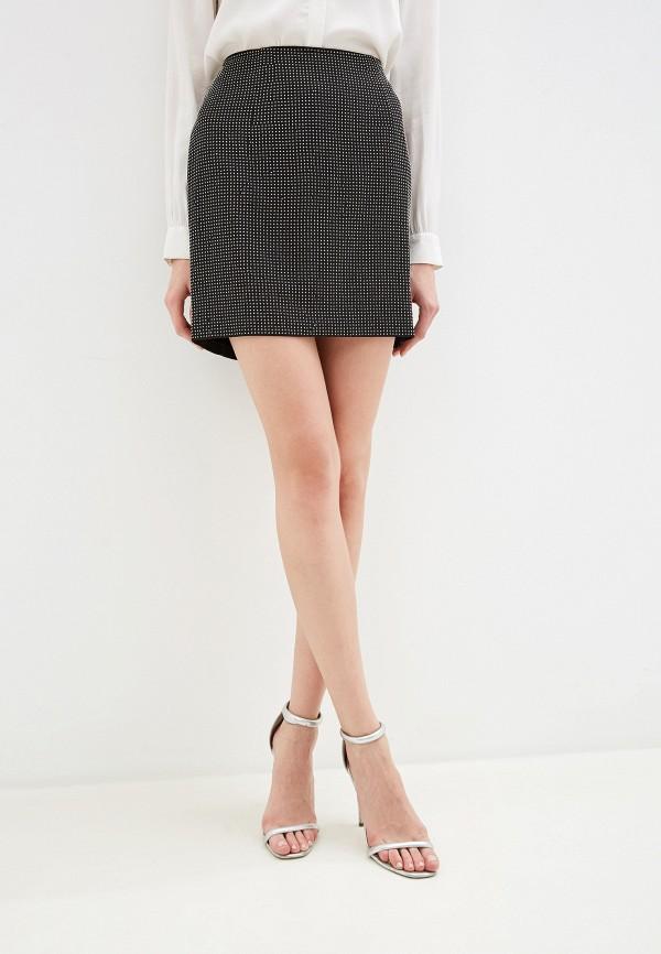 женская юбка миди silvian heach, черная
