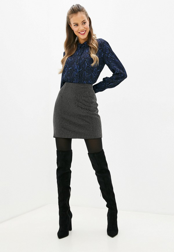 Фото 2 - женскую юбку Silvian Heach черного цвета