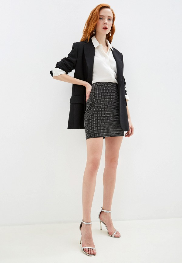 Фото 5 - женскую юбку Silvian Heach черного цвета