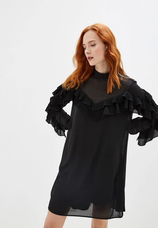 Фото 4 - женское платье Silvian Heach черного цвета