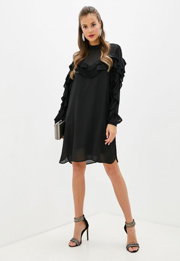 Фото 2 - женское платье Silvian Heach черного цвета