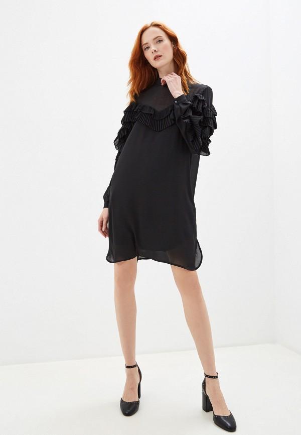 Фото 5 - женское платье Silvian Heach черного цвета