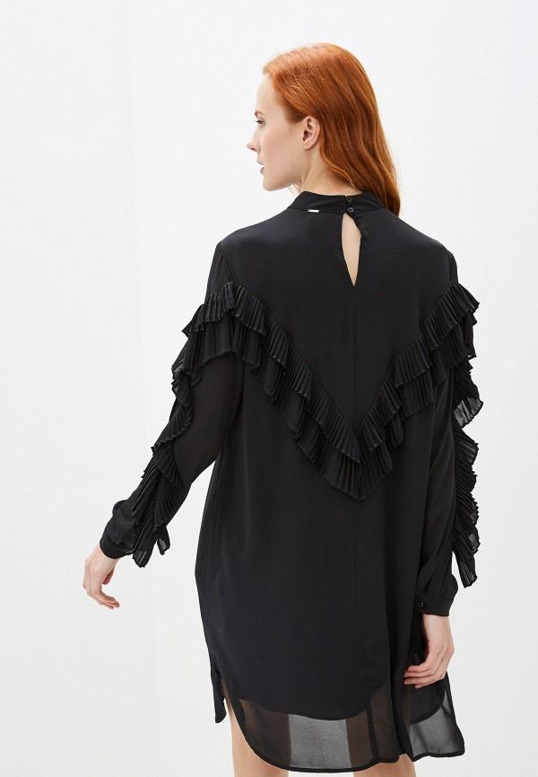 Фото 6 - женское платье Silvian Heach черного цвета
