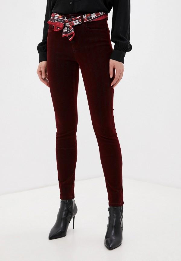 женские повседневные брюки silvian heach, бордовые