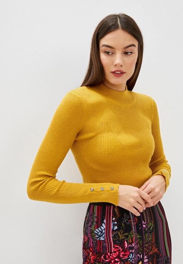 женский джемпер silvian heach, желтый