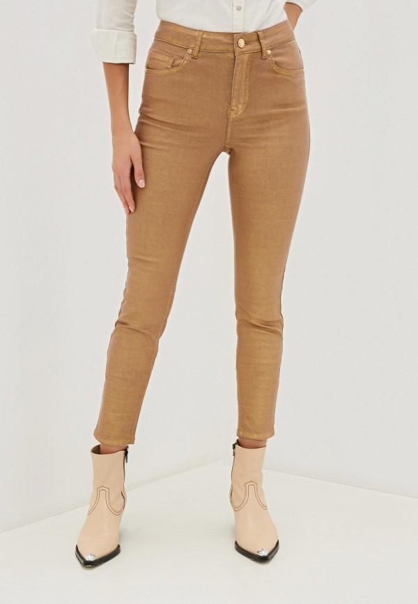 женские повседневные брюки silvian heach, золотые