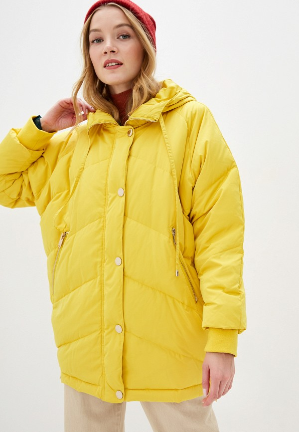 женская утепленные куртка silvian heach, желтая