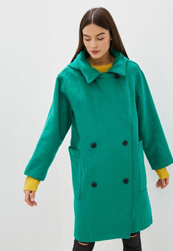 женское двубортные пальто silvian heach, зеленое
