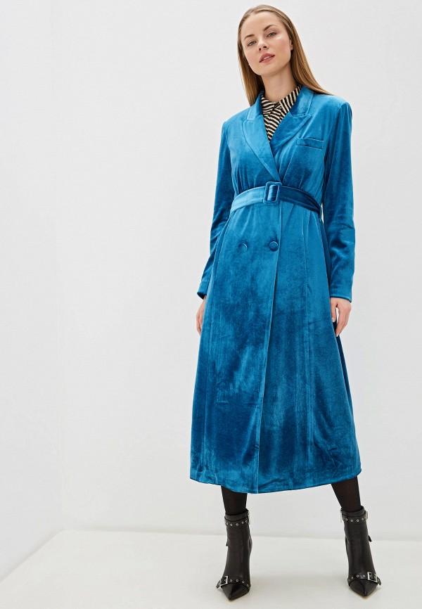 женское двубортные пальто silvian heach, голубое
