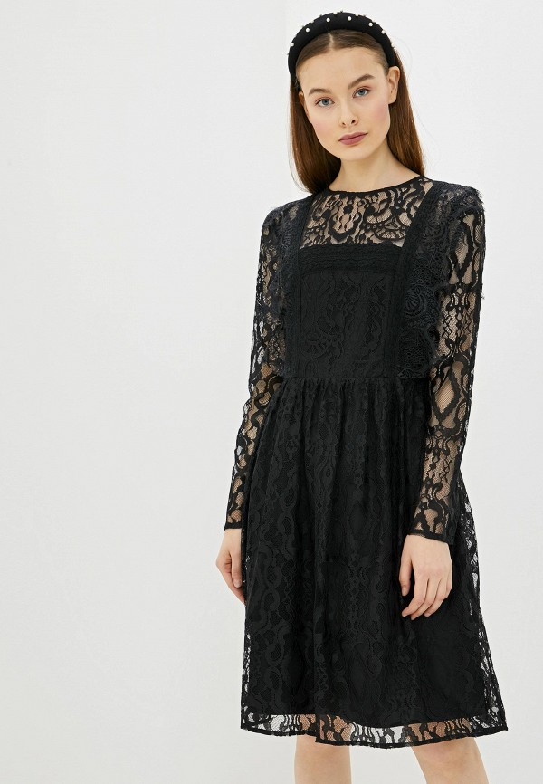 женское платье мини silvian heach, черное