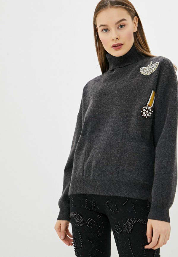 женский свитер silvian heach, серый