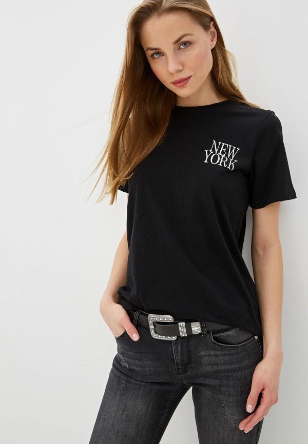 женская футболка silvian heach, черная