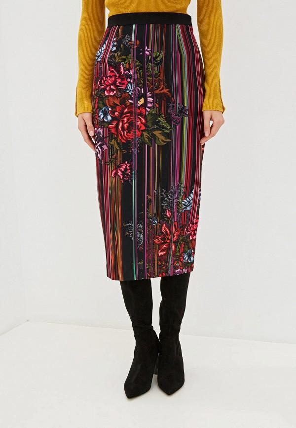 женская прямые юбка silvian heach, разноцветная