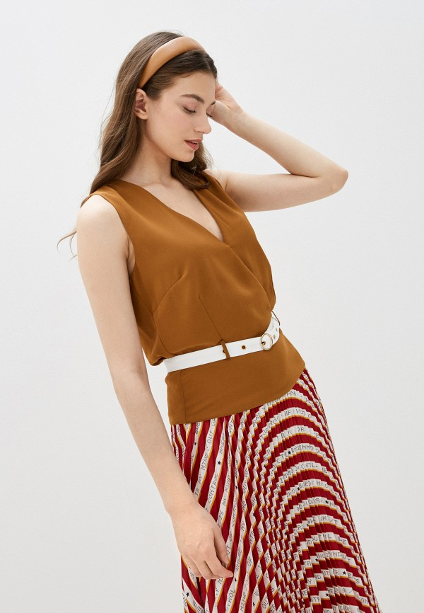 женская блузка silvian heach, коричневая