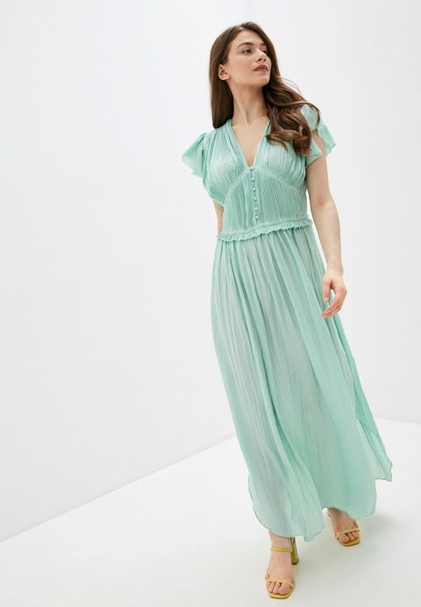 женское повседневные платье silvian heach, зеленое