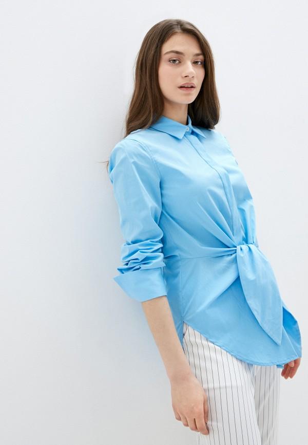 женская рубашка с длинным рукавом silvian heach, голубая