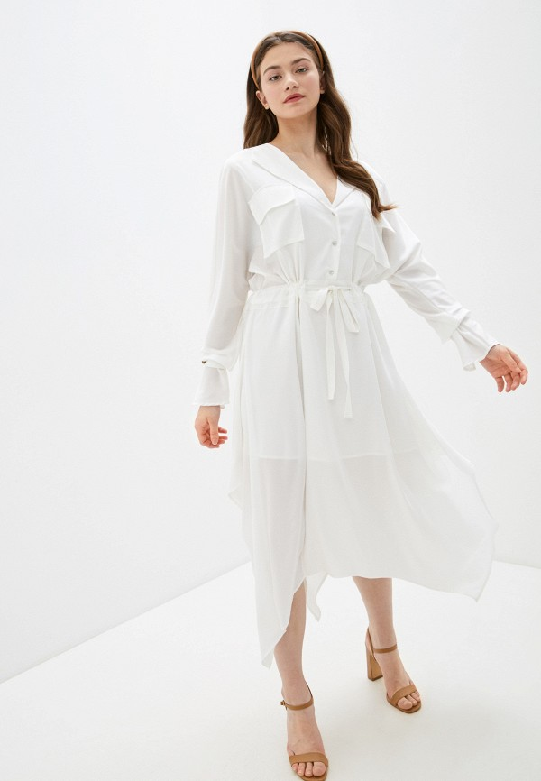 женское повседневные платье silvian heach, белое
