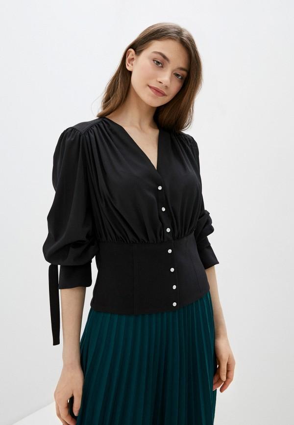 женская блузка silvian heach, черная