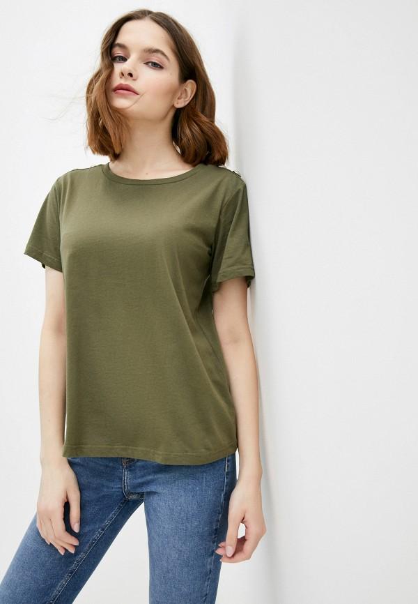 женская футболка silvian heach, хаки