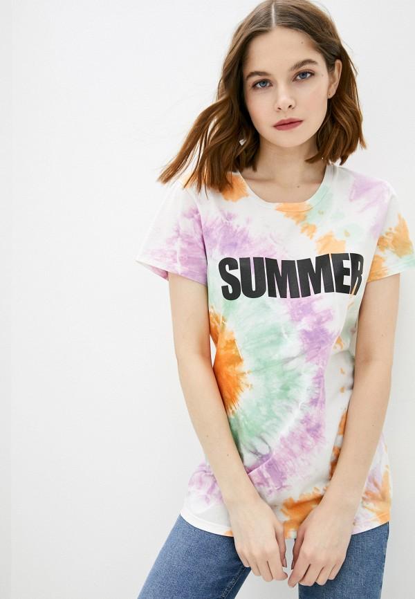 женская футболка silvian heach, разноцветная