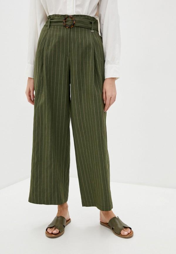 женские повседневные брюки silvian heach, зеленые