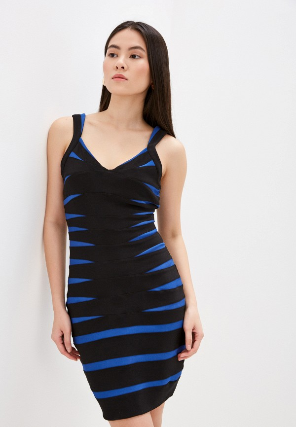женское платье-футляр silvian heach, синее