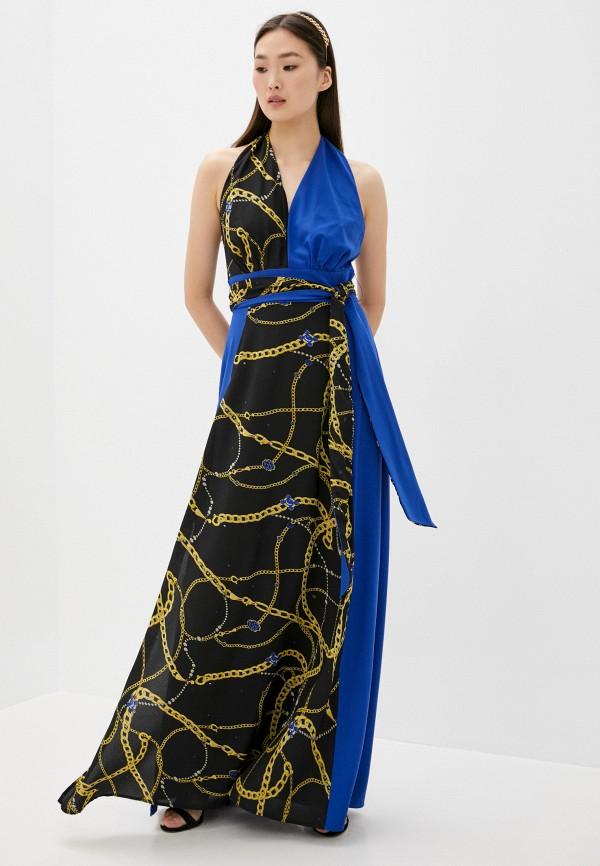 женское вечерние платье silvian heach, разноцветное