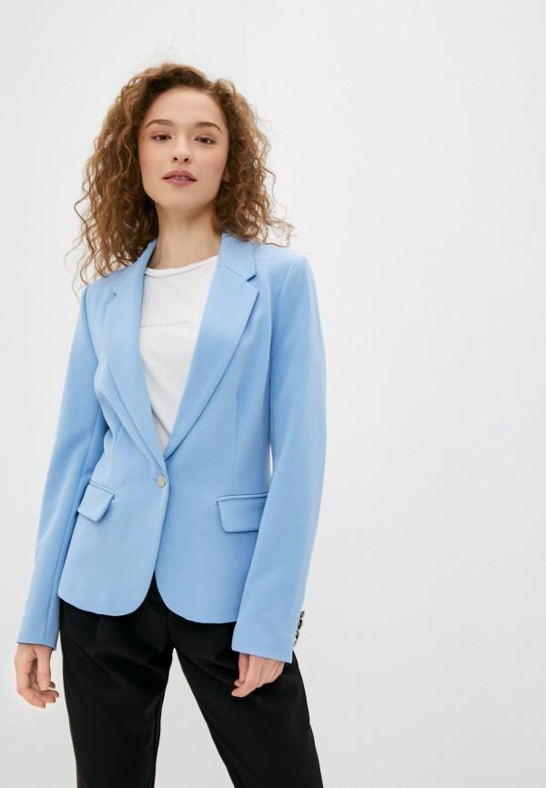 женский пиджак silvian heach, голубой