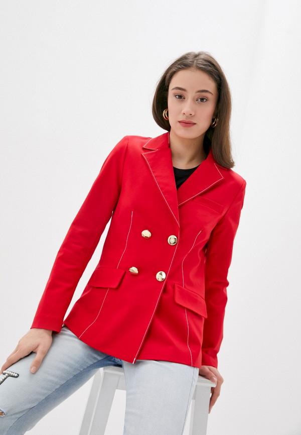 женский пиджак silvian heach, красный