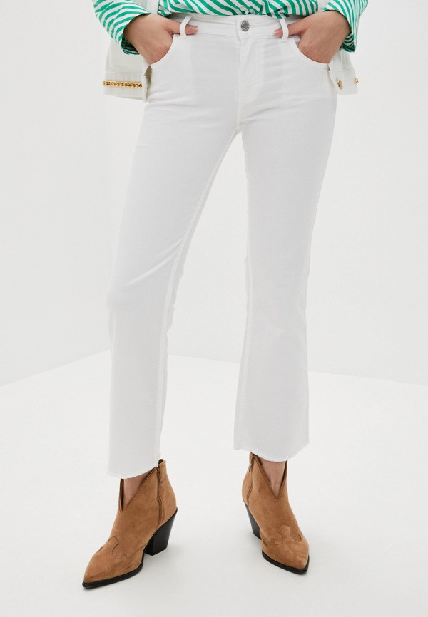 женские джинсы клеш silvian heach, белые