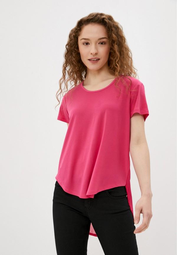 женская футболка silvian heach, розовая