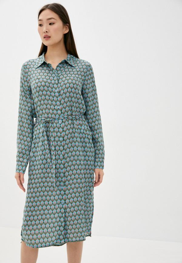 женское платье-рубашки silvian heach, голубое