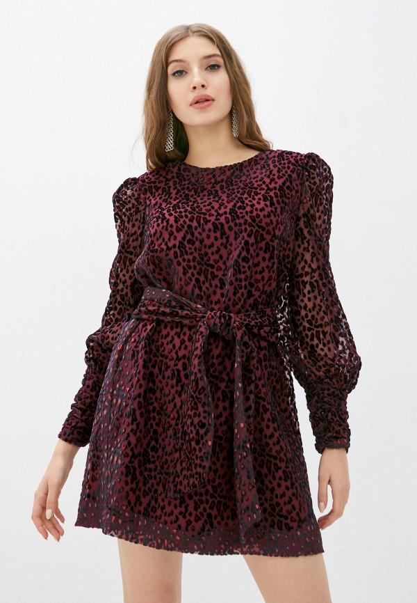женское вечерние платье silvian heach, бордовое