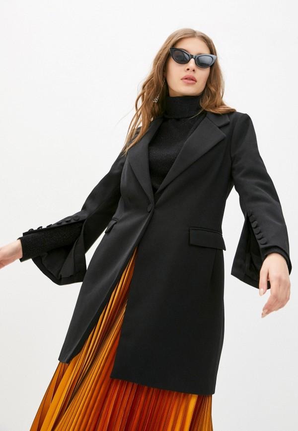 женское пальто silvian heach, черное